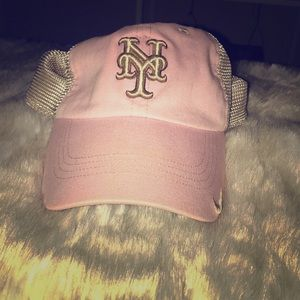 NIKE NY METS PINK/TAN BALL CAP